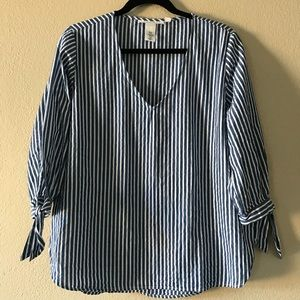Striped Blouse Top by H&M Size 12